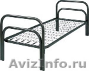 кровати с деревянными спинками одноярусные и двухъярусные для строителей - Изображение #2, Объявление #689421