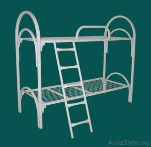 кровати с деревянными спинками одноярусные и двухъярусные для строителей - Изображение #1, Объявление #689421