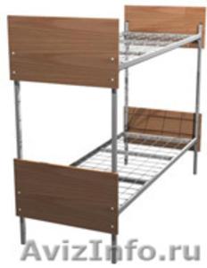 кровати с деревянными спинками одноярусные и двухъярусные для строителей - Изображение #4, Объявление #689421