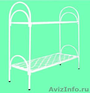 Кровати металлические с ДСП спинками, кровати одноярусные и двухъярусные, оптом - Изображение #3, Объявление #1479368