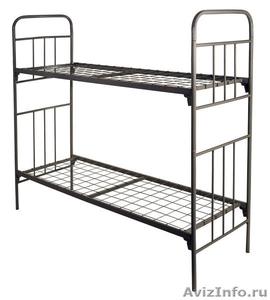 Кровати металлические с ДСП спинками, кровати одноярусные и двухъярусные, оптом - Изображение #4, Объявление #1479368