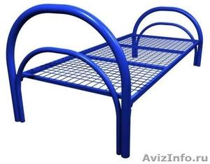 Двухъярусные железные кровати, для казарм, металлические кровати с ДСП спинкой - Изображение #3, Объявление #1479827