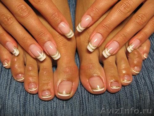 наращивание ногтей гелем дизайн фото: